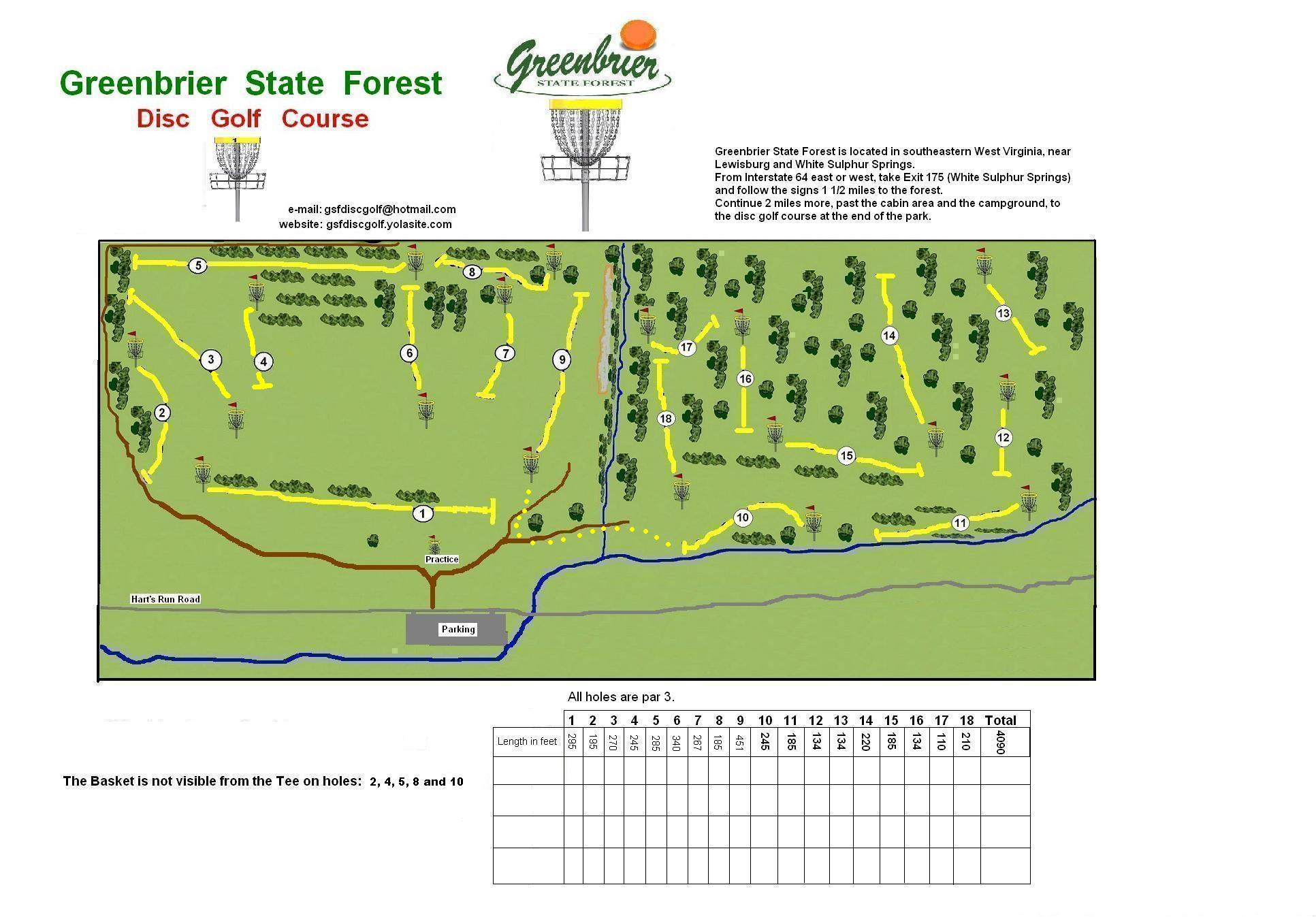 Greenbrier State Forest Disc Golf Course Hole Diagram Some Rules For Recreational Play Those Who Have Not Played Before